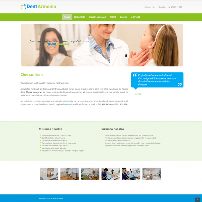 creare-site-web-prezentare-clinica-dentara