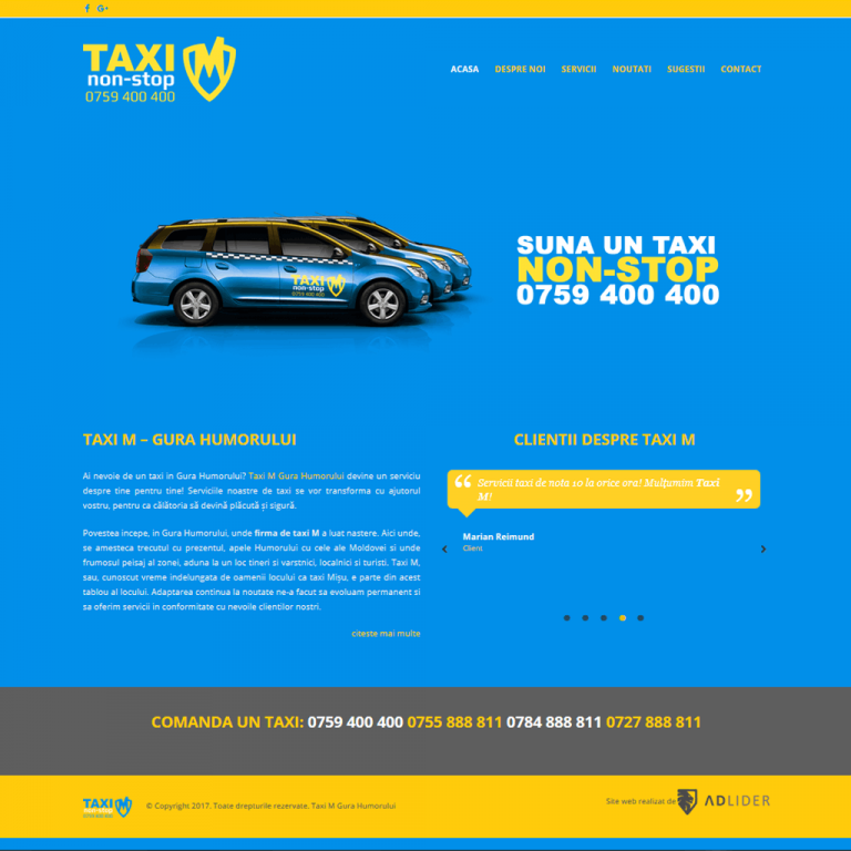 creare-site-web-prezentare-taxi